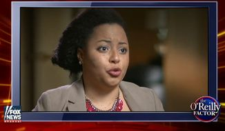 """Marissa J. Johnson, co-founder of Black Lives Matter Seattle, explained on Fox News recently why she and fellow activists believe the phrase """"all lives matter"""" is a racial slur.  """"'All lives matter is a new racial slur,"""" Marissa J. Johnson, co-founder of Black Lives Matter Seattle, said on Bret Baier's """"Voter Revolt"""" special. """"White Americans have created the conditions that require a phrase like 'Black Lives Matter.'"""""""