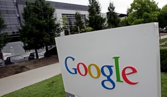 This July 21, 2005 photo shows Google headquarters in Mountain View, Calif.  (AP Photo/Paul Sakuma)