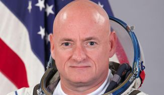 This photo provided by the Gagarin Cosmonaut Training Center via NASA, shows astronaut Scott Kelly. (AP Photo/Gagarin Cosmonaut Training Center via NASA)