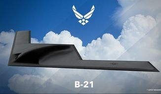 An artist's rendering of the Air Force B-21, the newest long-range strike bomber to be designed for the U.S. military by Northrop Grumman. (Image: U.S. Air Force)
