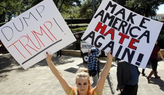 Ways to dump Trump as a presidential contender are being floated within the Republican Party. (Associated Press)