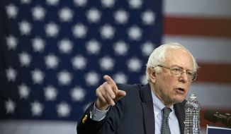 In this Feb. 25, 2016 file photo, Democratic presidential candidate, Sen. Bernie Sanders, I-Vt. speaks during a campaign rally in Chicago. As the Democratic presidential candidates hurtle toward the South Carolina primary Saturday and looming March contests, their contrasting pitches are on full display, with Hillary Clinton touting her regional expertise and personal ties on the ground, while Bernie Sanders focuses on his broader message of tackling income inequality and political oligarchy. (AP Photo/Jacquelyn Martin, File)