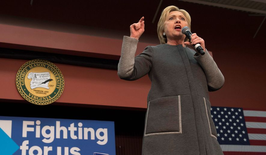 Hillary Clinton's team says it won't be able to knock Sen. Bernard Sanders out March 1, but her campaign hopes to come out at least 100 delegates ahead of Mr. Sanders among the 865 delegates up for grabs. (Associated Press)