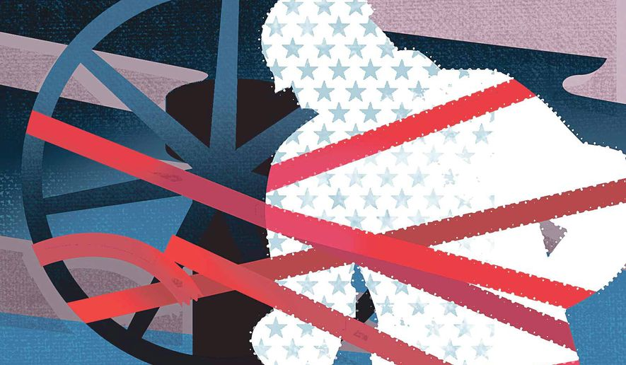 Illustration on the need to free up U.S. energy industry from overregulation by Linas Garsys/The Washington Times