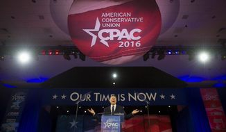 """She hates the Second Amendment. She hates us. And she's coming after every single bit of our freedom,"" NRA executive vice president and CEO Wayne LaPierre said Thursday on the first day of CPAC 2016. (Rod Lamkey Jr./Special to The Washington Times)"