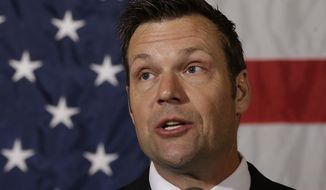 Kansas Secretary of State Kris Kobach. (Associated Press) ** FILE **