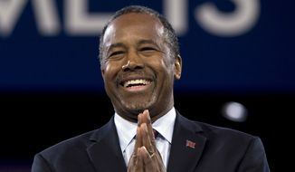 Republican presidential candidate Ben Carson speaks during the Conservative Political Action Conference (CPAC), Friday, March 4, 2016, in National Harbor, Md. (AP Photo/Carolyn Kaster) ** FILE **