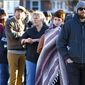 Voters wait to enter a primary polling center in Maine earlier this year.  (AP Photo/Robert F. Bukaty)