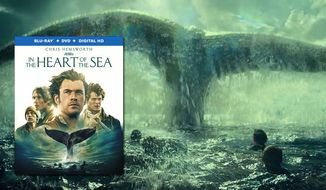 "A really big whale co-stars in ""In the Heart of the Sea,"" now available on Blu-ray from Warner Bros. Home Entertainment."