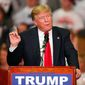 Donald Trump might come into the Republican National Convention short of the 1,237 majority needed for the nomination, but a brokered convention is looking less likely. (Associated Press)