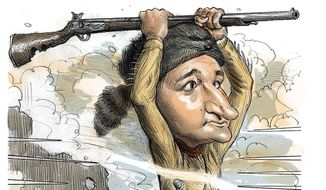 Illustration on Ted Cruz' indomitable spirit by Alexander Hunter/The Washington Times