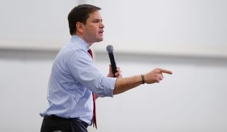 Republican presidential candidate Marco Rubio is pinning his political future on his home state of Florida and its 99 delegates up for grabs Tuesday. Although he is gaining ground on Donald Trump, he is 8 percentage points behind in the pivotal central part of the state. (Associated Press)