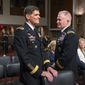 Gen. Joseph L. Votel (left), head of the Special Operations Command, has been nominated to become the commander of U.S. Central Command, which oversees military operations in Iraq and Syria against the Islamic State group. Lt. Gen. Raymond A. Thomas (right) has been nominated to lead the Special Operations Command. (Associated Press)