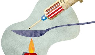 Chinese Drugs Smuggled into the Country Illustration by Greg Groesch/The Washington Times