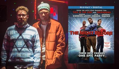 "Seth Rogen and Michael Shannon in ""The Night Before,"" now available on Blu-ray from Sony Pictures Home Entertainment."