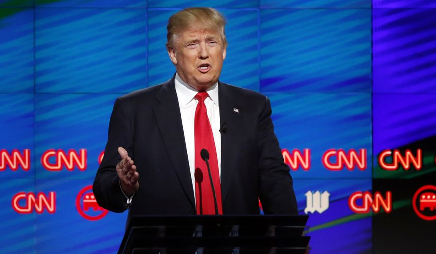 """""""So far I cannot believe how civil it's been up here,"""" Mr. Trump said after a mild exchange with Sen. Ted Cruz over alleged flip-flops in his positions on ethanol and immigration. (Associated Press)"""