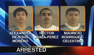 Three men have been arrested in Georgia after one of them pulled out a gun and threatened a homeowner over his pro-Donald Trump sign. Alexander DeJesus Moreno, 17, Mauricio Rodriguez-Celestino, 18, and Hector Ayala-Perez, 20, have all been charged. (WRCB)