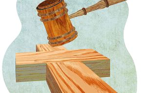 Religious Freedom and the Courts Illustration by Greg Groesch/The Washington Times