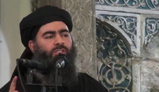 """Abu Bakr al-Baghdadi has been a target of U.S. military and intelligence officials since he emerged as the so-called """"caliph"""" of the Islamic State in 2014. (Associated Press)"""