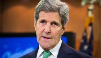 Secretary of State John F. Kerry. (Associated Press) ** FILE **