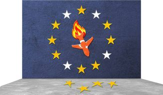 Bad Deal Between European Union and Turkey Illustration by Greg Groesch/The Washington Times