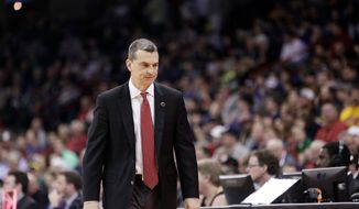Maryland coach Mark Turgeon faces the team he played for in Kansas on Thursday in the NCAA tournament's Sweet 16. (Associated Press)