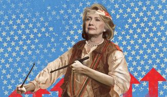 Hillary the Common Drummer Illustration by Linas Garsys/The Washington Times