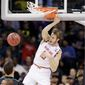Maryland forward Jake Layman was a member of the preseason All-Big Ten Conference team, providing one of several reasons for fans to be giddy with visions of a Final Four trip for the Terrapins when the season began. But after an up-and-down season, the Terrapins are now underdogs. (Associated Press)