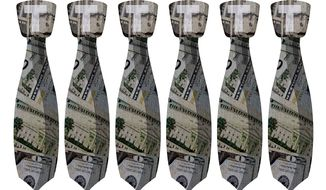 Expensive Trump Ties Illustration by Greg Groesch/The Washington Times