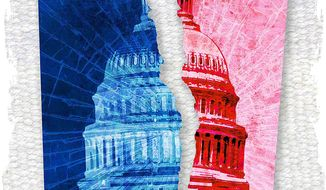Polarized Politics Illustration by Greg Groesch/The Washington Times
