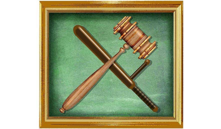 Justice Department Tools Illustration by Greg Groesch/The Washington Times