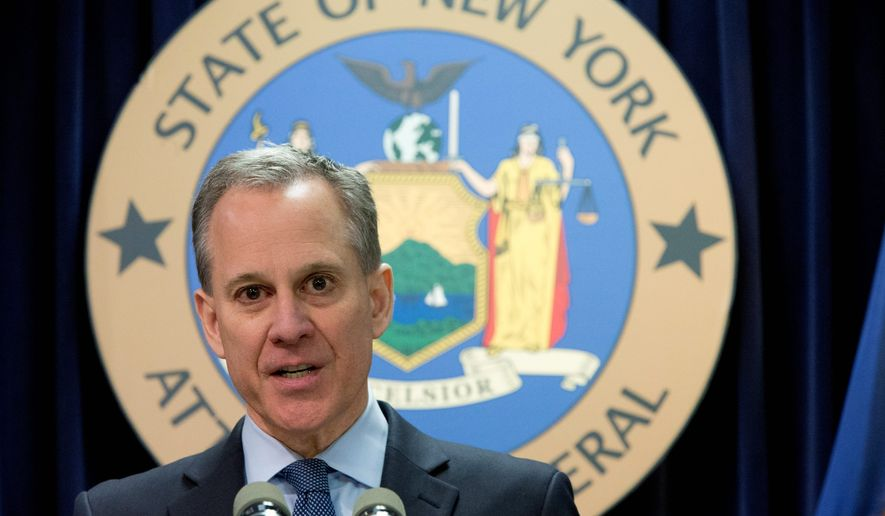 New York Attorney General Eric Schneiderman and others attorneys general are proving whether ExxonMobil deceived the public on man-made carbon dioxide emissions. (Associated Press)