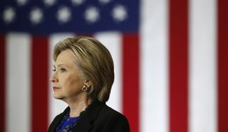 Democratic presidential candidate Hillary Clinton speaks at the University of Wisconsin in Madison, Wis., Monday, in this March 28, 2016 file photo.  (AP Photo/Patrick Semansky) **FILE**
