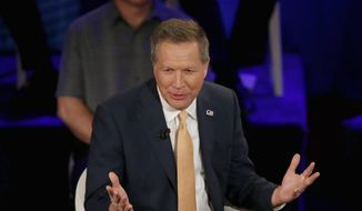 Republican presidential candidate Ohio Gov. John Kasich is looking to salvage his bid for the White House by sticking around and trying to convince voters that he is their strongest candidate against the Democrats in the November election. (Associated Press)