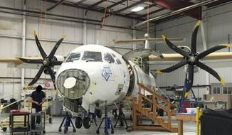 An ATR 500 airplane purchased by the Drug Enforcement Agency in 2008 remains inoperable. (Image: Department of Justice OIG)