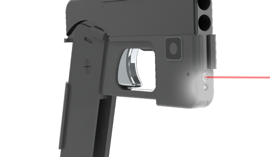 Double-barreled handgun that looks like a smartphone from Ideal Conceal.