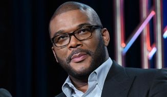 "In this Jan. 15, 2016, file photo, Tyler Perry participates in a panel for ""The Passion"" at the Fox Winter TCA in Pasadena, Calif. (Photo by Richard Shotwell/Invision/AP, File)"