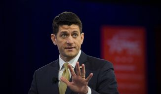 House Speaker Paul Ryan. (The Washington Times) ** FILE **
