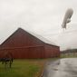 The North American Aerospace Defense Command scrambled to collect an airship that detached from its station at the Aberdeen Proving Ground in Maryland in October. (Associated Press)