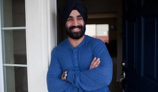 Captain Simratpal Singh is the first Sikh-American to be allowed to wear his turban and beard while actively serving in the Army. (Image: The Sikh Coalition)