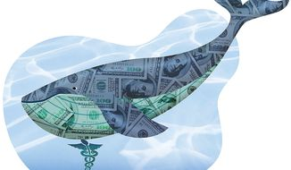 The Whale of Medicare Fraud Illustration by Greg Groesch/The Washington Times