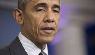 President Barack Obama speaks about about new rules aimed at deterring tax inversions, Tuesday, April 5, 2016, in the briefing room of the White House in Washington. (AP Photo/Pablo Martinez Monsivais)