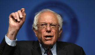 Democratic presidential candidate, Sen. Bernie Sanders, I-Vt. speaks during a campaign stop, Thursday, April 7, 2016, at the Pennsylvania AFL-CIO Convention in Philadelphia. (AP Photo/Matt Rourke)