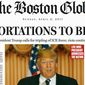 "The Boston Globe spent much time and energy to craft a realistic-looking but fake front page on Sunday titled ""The GOP must stop Trump."" (Boston Globe)"
