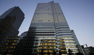 Goldman Sachs headquarters in New York is seen in this Oct. 15, 2015, photo. (Associated Press)