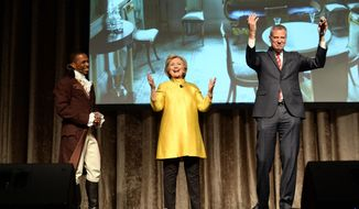 Hillary Clinton and Mayor Bill de Blasio have come under fire over their comedy skit at the show that some people feel was racially insensitive. Many in the room where it happened, which was filled with New York politicians, power brokers and reporters, laughed at the joke. But it soon made its way around social media and drew some scornful media coverage. (David Handschuh/The Inner Circle Via AP, File) MANDATORY CREDIT