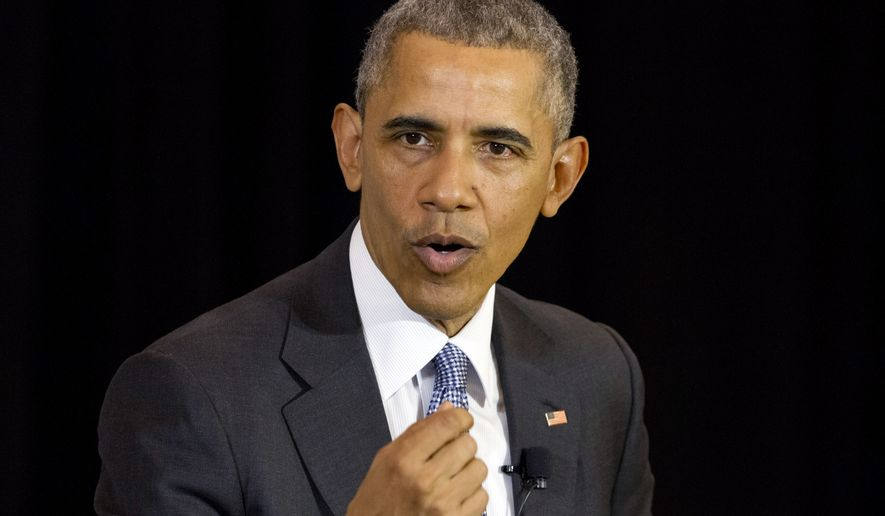 """""""We have momentum, and we intend to keep that momentum,"""" President Obama said of the Islamic State terrorist group, which also is known as ISIL and ISIS. """"The ISIL core in Syria and Iraq continues to shrink. We are focused, and we are going to win."""" (Associated Press)"""