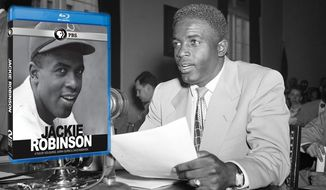 "The documentary ""Jackie Robinson,""  now available on Blu-ray from PBS Distribution, focuses on the legends efforts on and off the field to fight segregation. (Robinson photo Associated Press)"