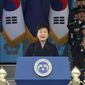 With her domestic agenda likely gridlocked, some analysts say South Korean President Park Geun-hye will try to remain relevant beyond her borders. (Associated Press)