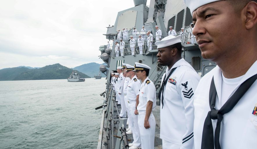 Sailors aboard the USS Stockdale were among the U.S.-deployed assets taking part in the Multilateral Naval Exercise Komodo, initiated in 2014 by the U.S. and Indonesia. (U.S. Navy)